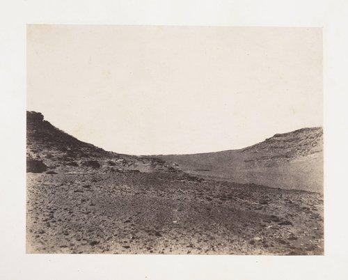 Études de terrain près de Gebel Abousir, 2e cataracte (Studies of Landscape near Gebel Abusir, Second Cataract)