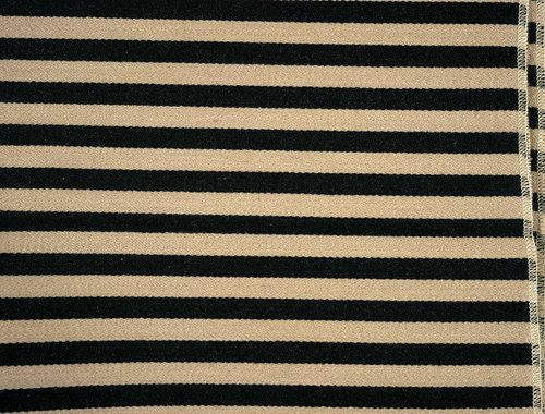 Toostripe #1907 Upholstery Fabric [Black and Raw Umber]