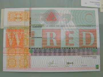image of 'Wired Stock Certificate'