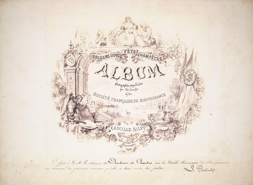Untitled, title page from the album Orléans House Fête Champêtre, Juin 1864