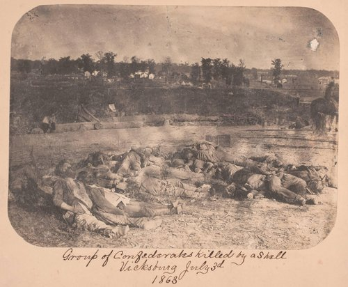 Group of Confederates Killed by a Shell, Vicksburg, July 3, 1863