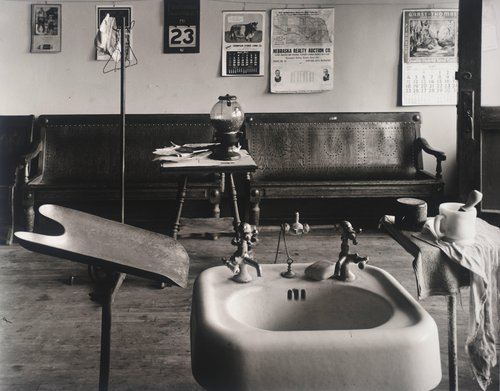 Barber Shop Interior; Cahow's Barber Shop, Chapman, Nebraska
