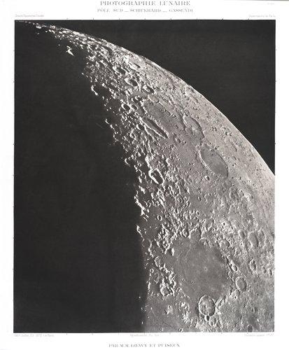 Lunar photograph: South Pole