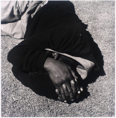 Man sleeping, Joubert Park, Johannesburg. 1975, from the series Particulars