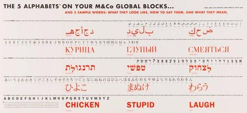 Global Blocks set and poster