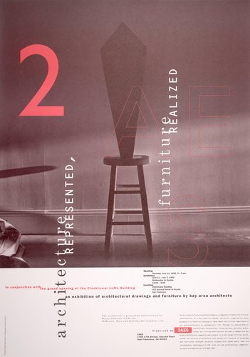 Architecture Represented, Furniture Realized poster