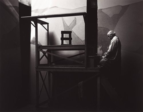 Gottardo Piazzoni in His Studio, San Francisco