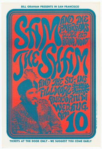 "Sam the Sham and The Sit-Ins and The Pharaohs ""Little Red Riding Hood;"" Fillmore Auditorium, August 10, 1966"