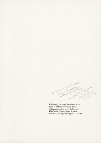 The Rebel Albert Camus: Twenty-Five Typographic Meditations [colophon]