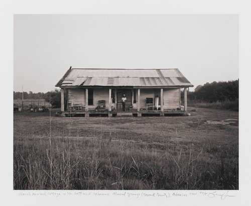 Greek Revival cottage with battered columns, Mineral Springs (Howard County), Arkansas, from the series Of the Soil