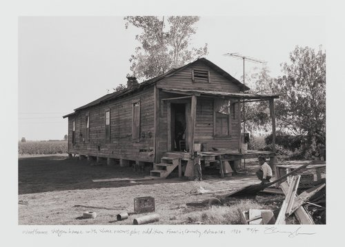 Wood frame shotgun house with three rooms plus addition, Francis County, Arkansas, (no longer standing)