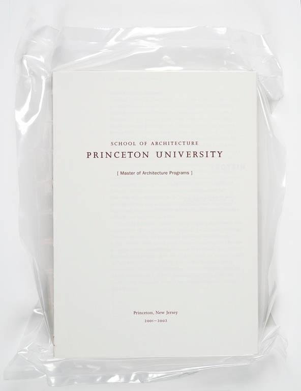 image of 'Princeton School of Architecture MA Program Catalog'