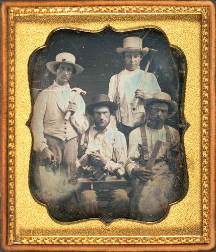 Untitled [Clockwise from left: Warren Crosby, Edwin Green, Peter Elebash, L.(?) Arnold]