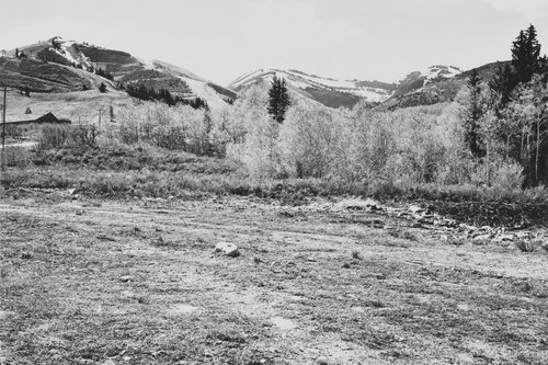 Cleared area, Parkwest, looking West toward Bronco Ski Run and Murdock Peak, from the portfolio Park City