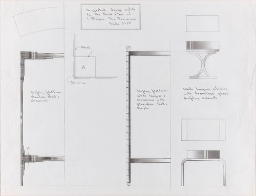 Suggested design motifs for the third floor, I. Magnin, San Francisco