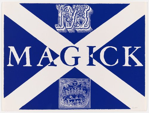 m is for magick, from the series International Signal Code Alphabet