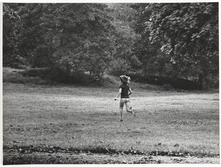 image of 'What Makes Jackie Run? Central Park, New York City, October 4, 1971'