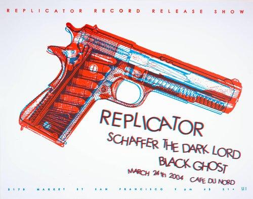 Replicator Record Release Show: Replicator, Schaffer the Dark Lord, Black Ghost; Cafe du Nord; March 24, 2004