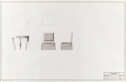 Sportswear shop furniture for Mr. and Mrs. Edward Safdie