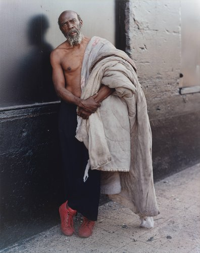 A Homeless Man with his Bedding, New York, New York, July 1994, from the series Stranger Passing