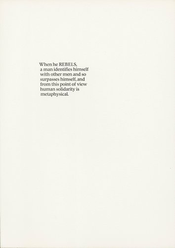 The Rebel Albert Camus: Twenty-Five Typographic Meditations [page 30]