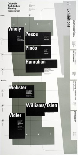 Columbia University School of Architecture, Planning, and Preservation, Fall 1996 Lecture Series Poster