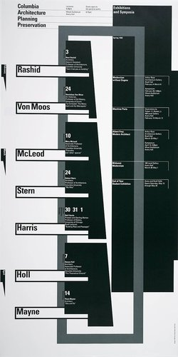 Columbia University School of Architecture, Planning, and Preservation, Spring 1993 Lecture Series Poster