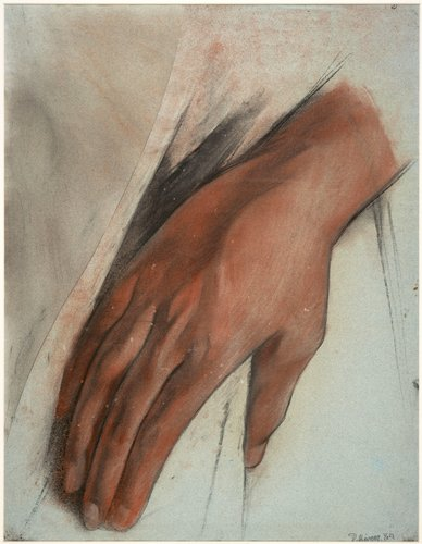 Untitled (Hand of the figure Justice), study for the mural Creation, Anfiteatro Bolivar, Escuela Nacional Preparatoria, Mexico City