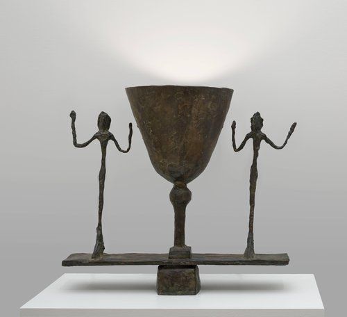 Lampe avec deux figures (Lamp with Two Figures)
