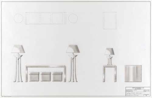 Lamp and table designs for Goodman-Picher