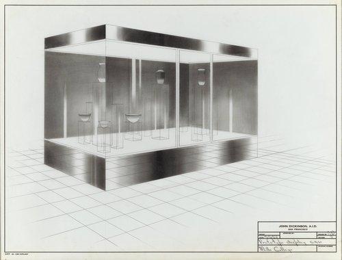 Prototype display case, Mills College