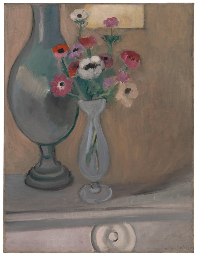 image of 'Le Bouquet d'anemones (Vase of Anemones)'