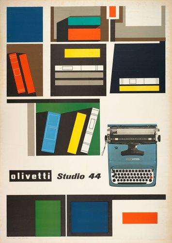 Olivetti Studio 44 typewriter poster