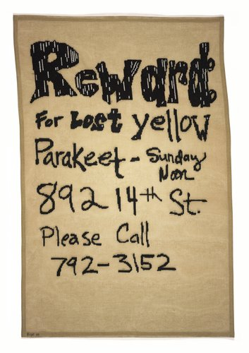 Reward for Lost Yellow