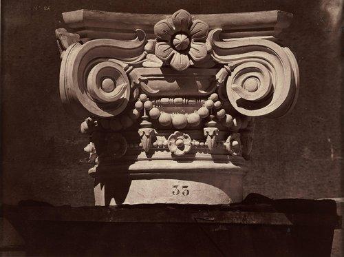 Chapiteau des colonnes du vestibule, plate 24, from Le Nouvel Opéra de Paris: Sculpture ornementale