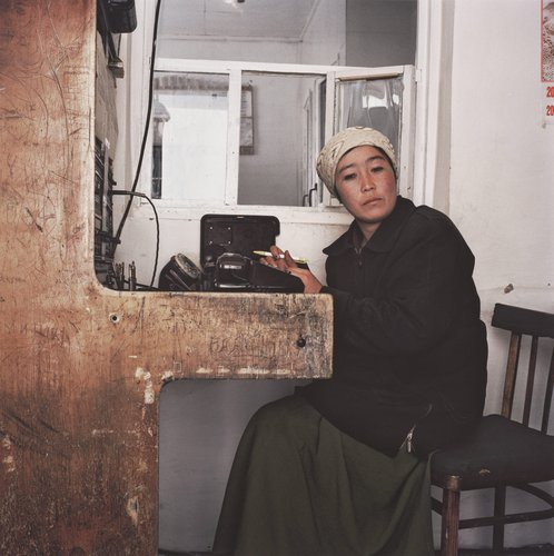 The Telephone Operator, Alai Corridor, Kyrgyzstan, from the series Travelling through the Eye of History