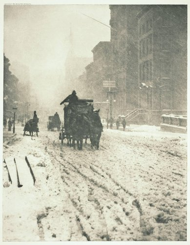Winter on Fifth Avenue, from the portfolio Picturesque Bits of New York and Other Studies