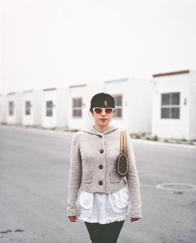Girl Coming Home to Suburb in Juarez from a Night Out in the City, from the series Suburbia Mexicana