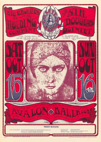 Big Brother and the Holding Company; Sir Douglas Quintet, Avalon Ballroom, October 15-16, 1966