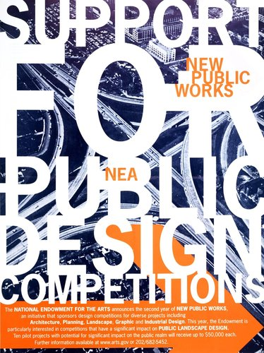 NEA New Public Works 2001 poster