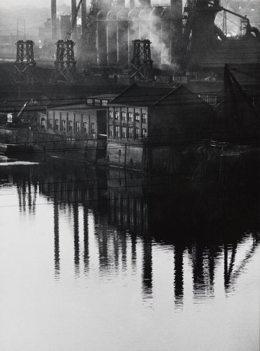 Untitled [Factory and reflection], from the essay Pittsburgh, A Labyrinthian Walk