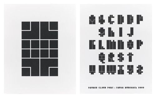 Square Cloud Type specimen poster