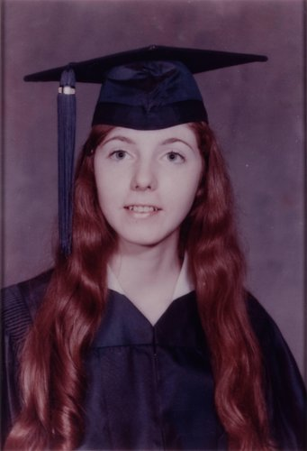 Eugenie's mother Virginia's high school graduation picture