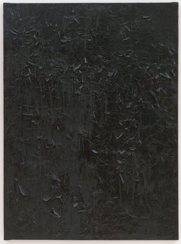 Untitled [glossy black painting]
