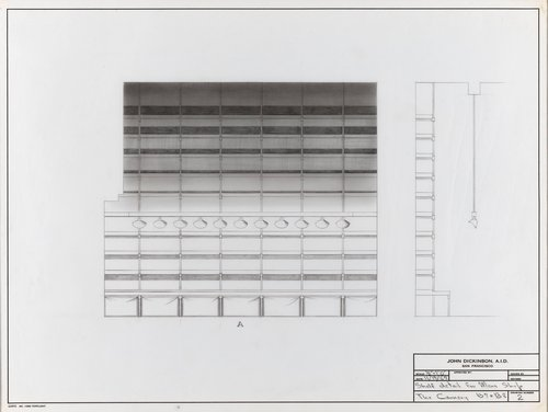 Shelf detail for men's shop, B7 and B8, The Cannery