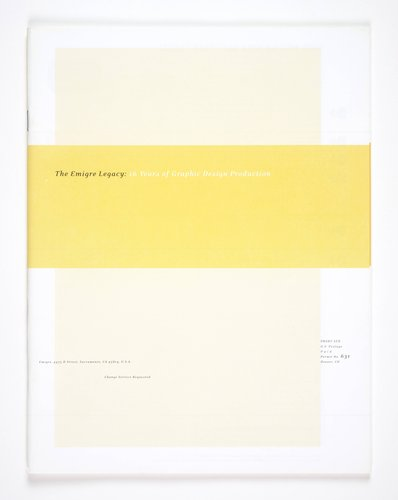 Emigre magazine, no. 56 (The Emigre Legacy: 16 Years of Graphic Design Production)