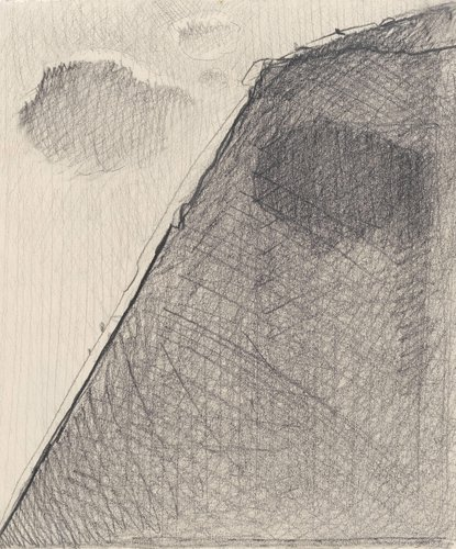 Untitled (Mountainside and Clouds)