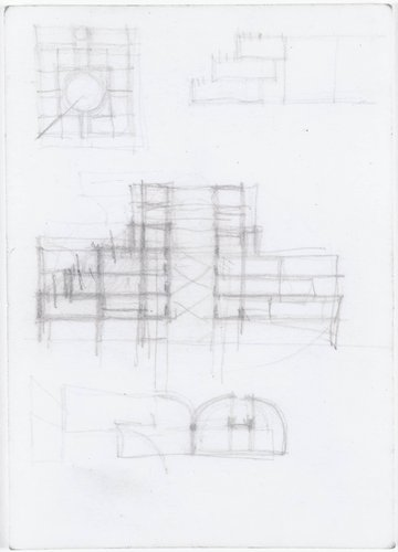 SFMOMA Floor Plan and Section Studies