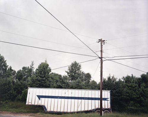 Trailer with Blue Stripe, near Tuscaloosa, Alabama