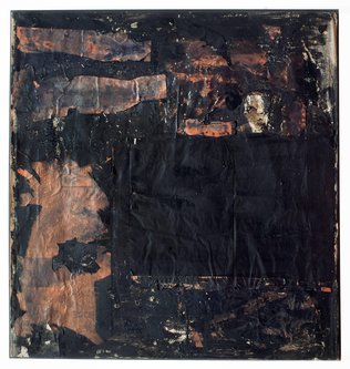 Untitled [black painting with portal form]